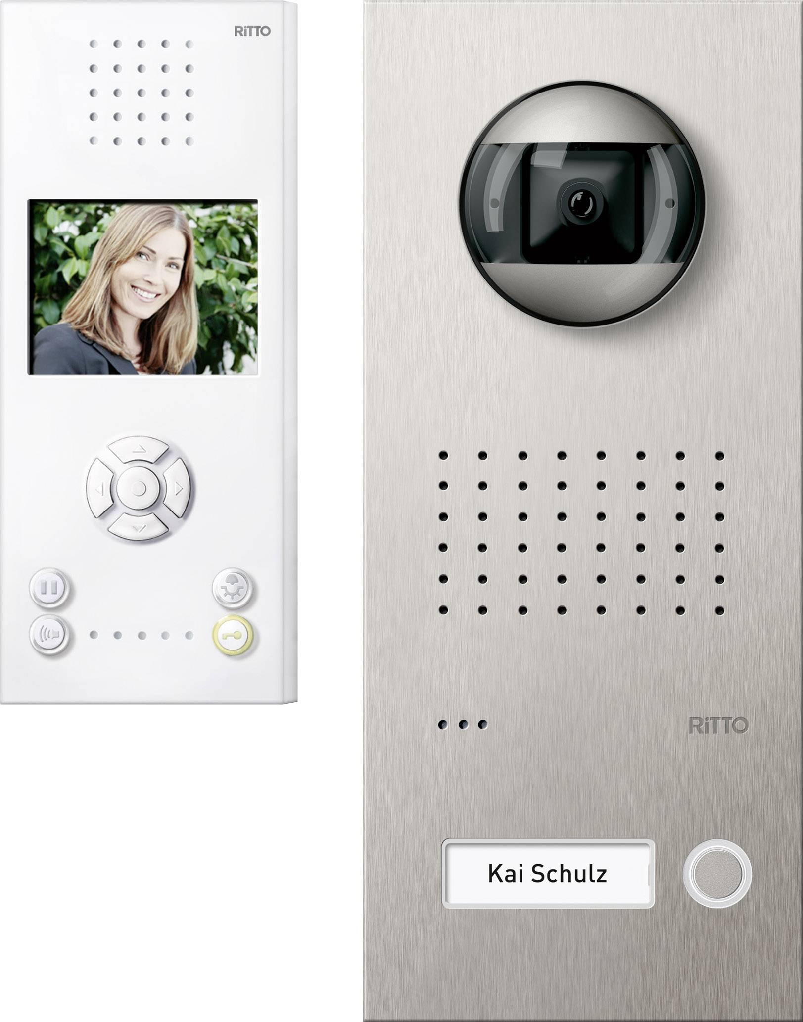 Kabelový domovní video telefon Ritto by Schneider RGE1819525 3857212, bílá/ocelová