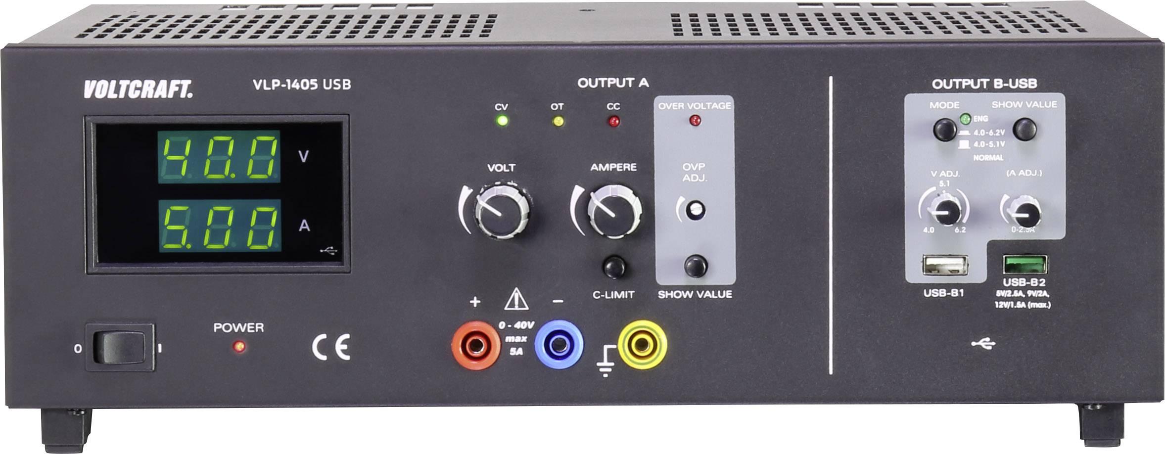Laboratórny zdroj s nastaviteľným napätím VOLTCRAFT 0 - 40 V, 0.01 - 5 A, 490 VA