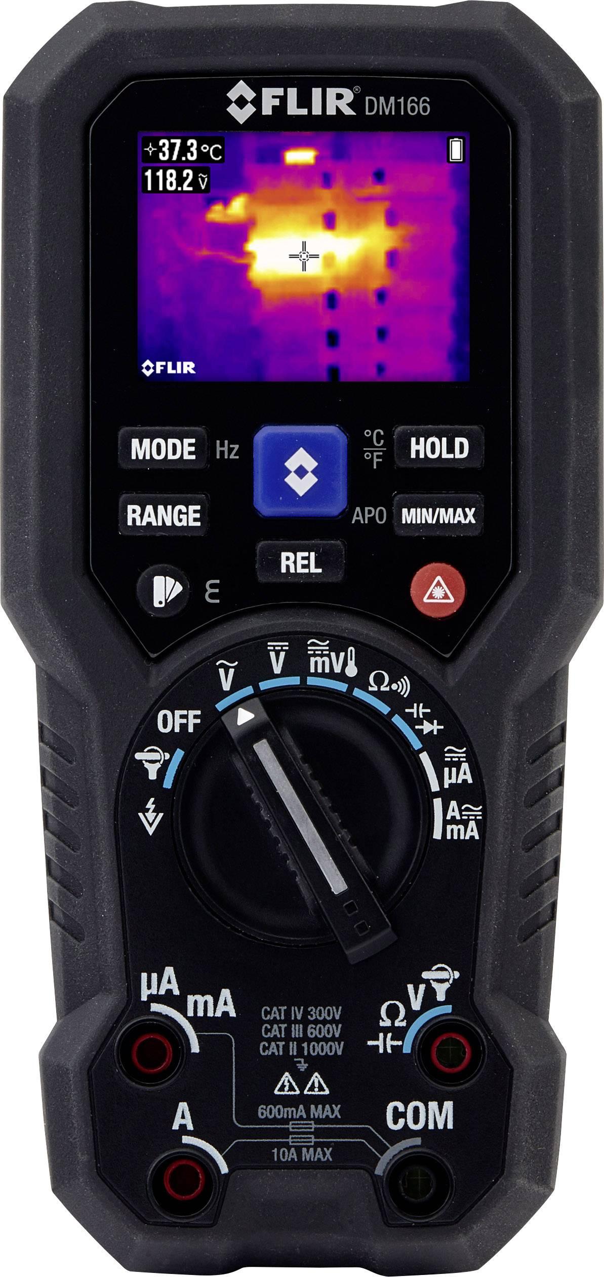 Multimetr FLIR DM166, integrovaná termokamera