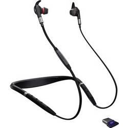 Telefonní headset s Bluetooth bez kabelu Jabra Evolve 75e MS do uší černá