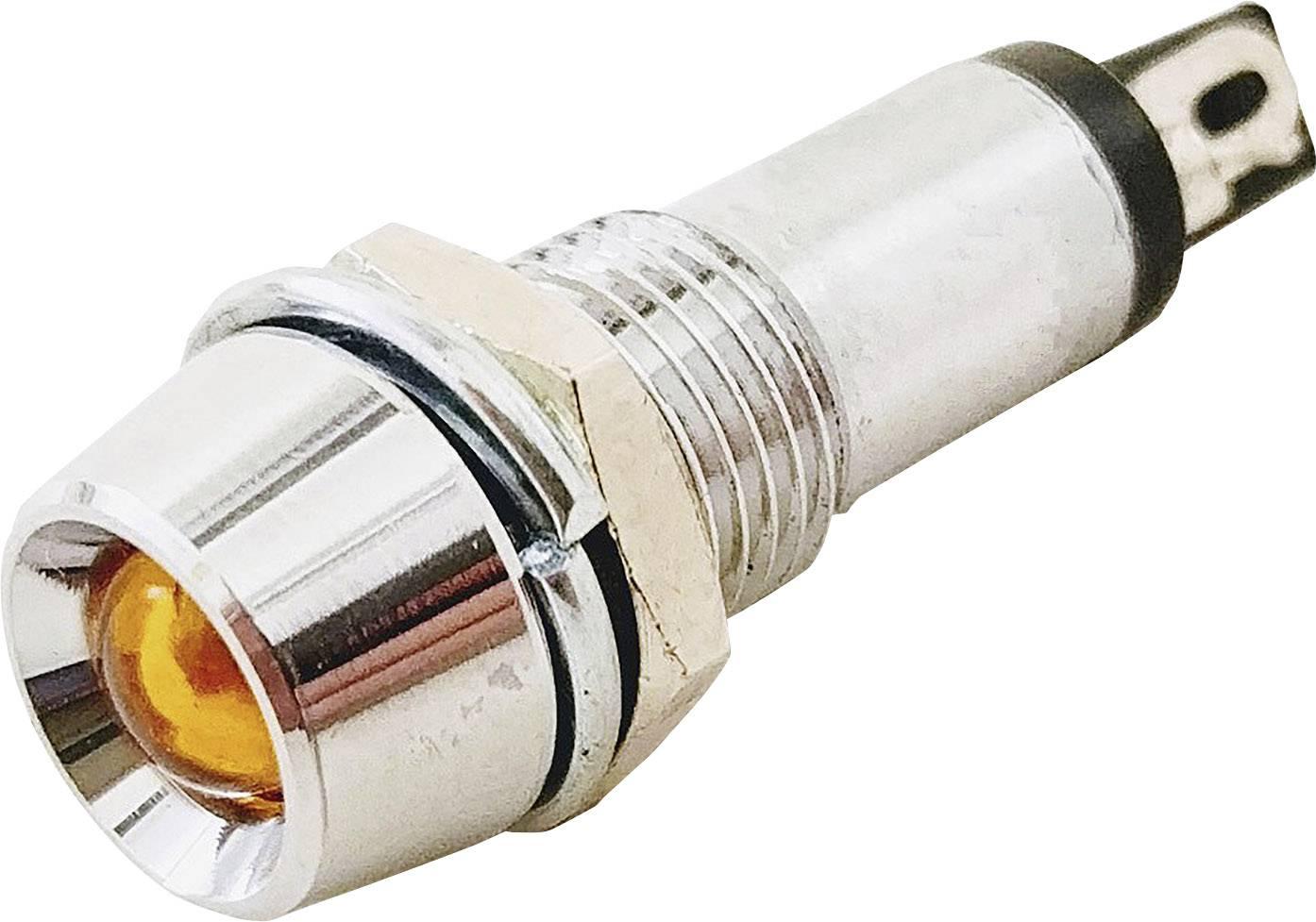 Indikační LED Barthelme 6 V/AC, 6 V/DC, 17 mA, jantarová