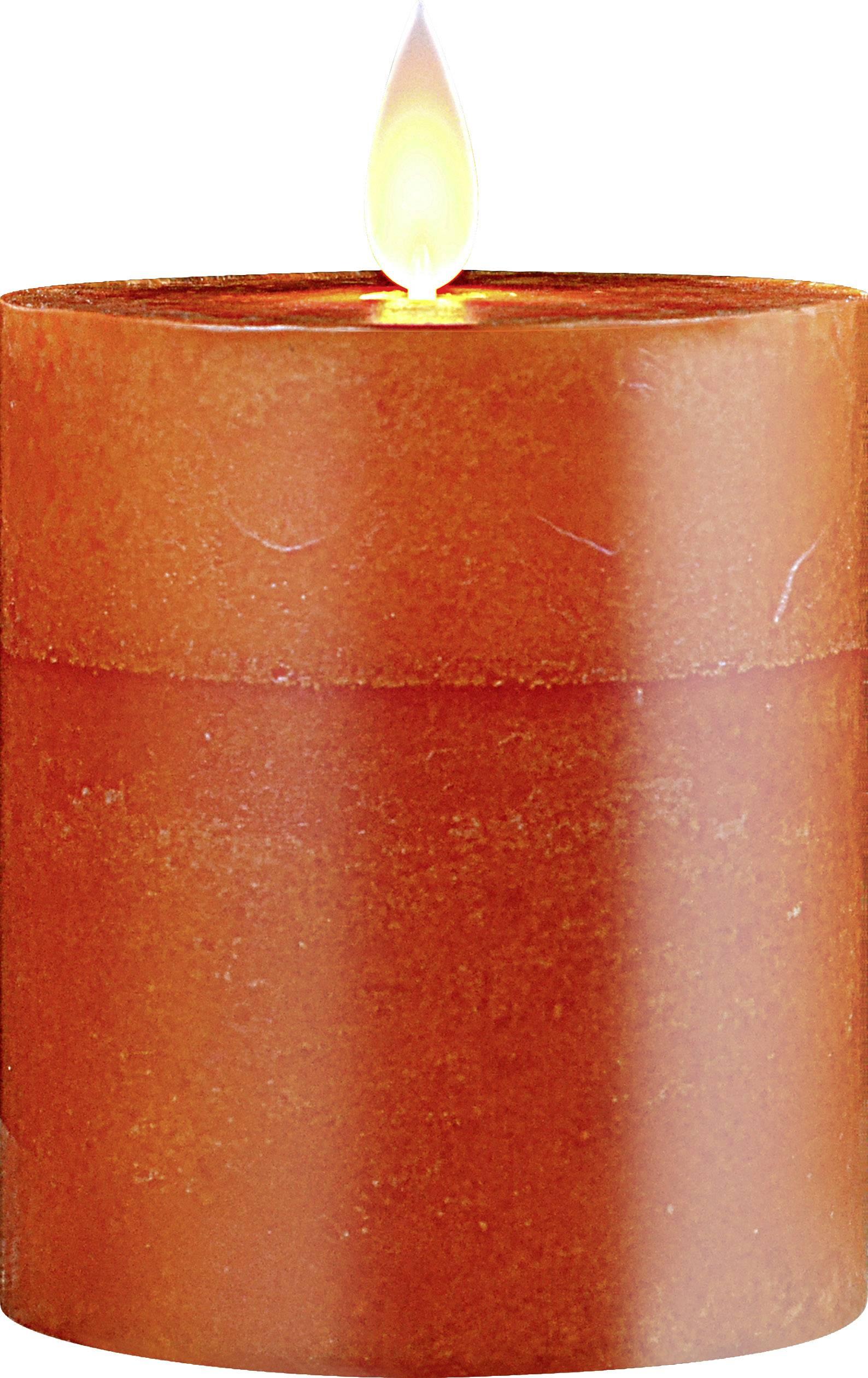 Vnitřní/venkovní LED vosková svíčka Polarlite 1 ks, oranžová