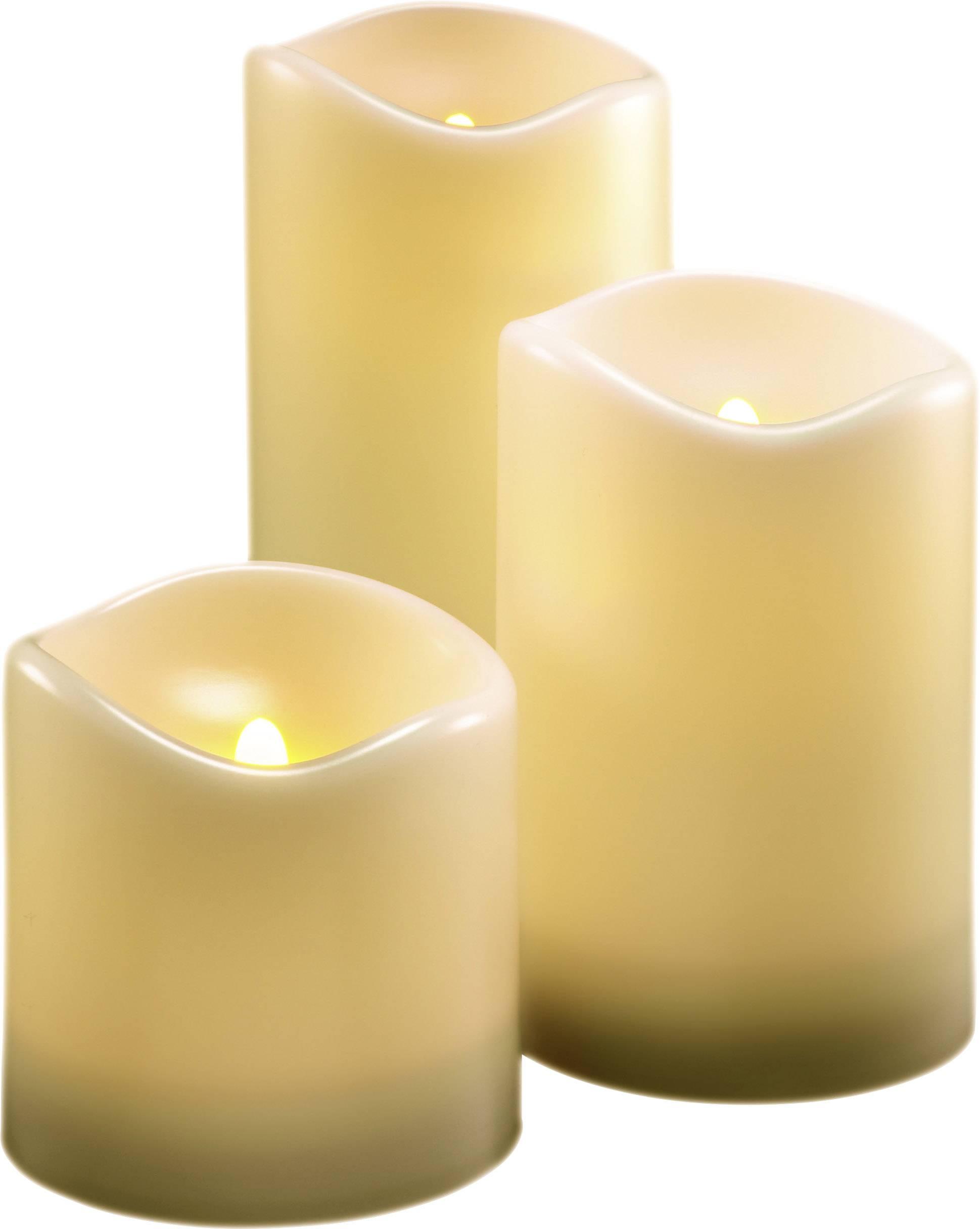 LED svíčka Polarlite vnitřní/venkovní, 3 ks