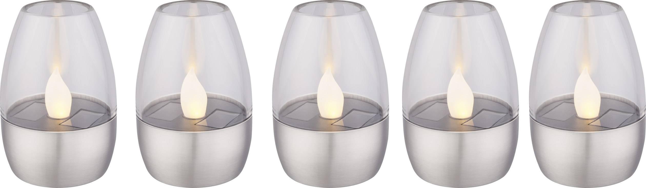 Solární dekorativní osvětlení 0.06 W teplá bílá Polarlite PL-8228600 nerezová ocel
