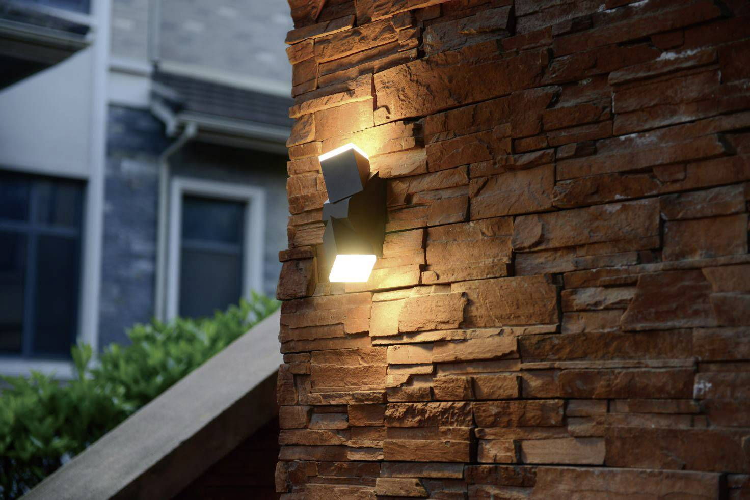 LED nástěnné světlo Polarlite DoubleSpot 13 PL-8232015, 13 W, teplá bílá, tmavě šedá