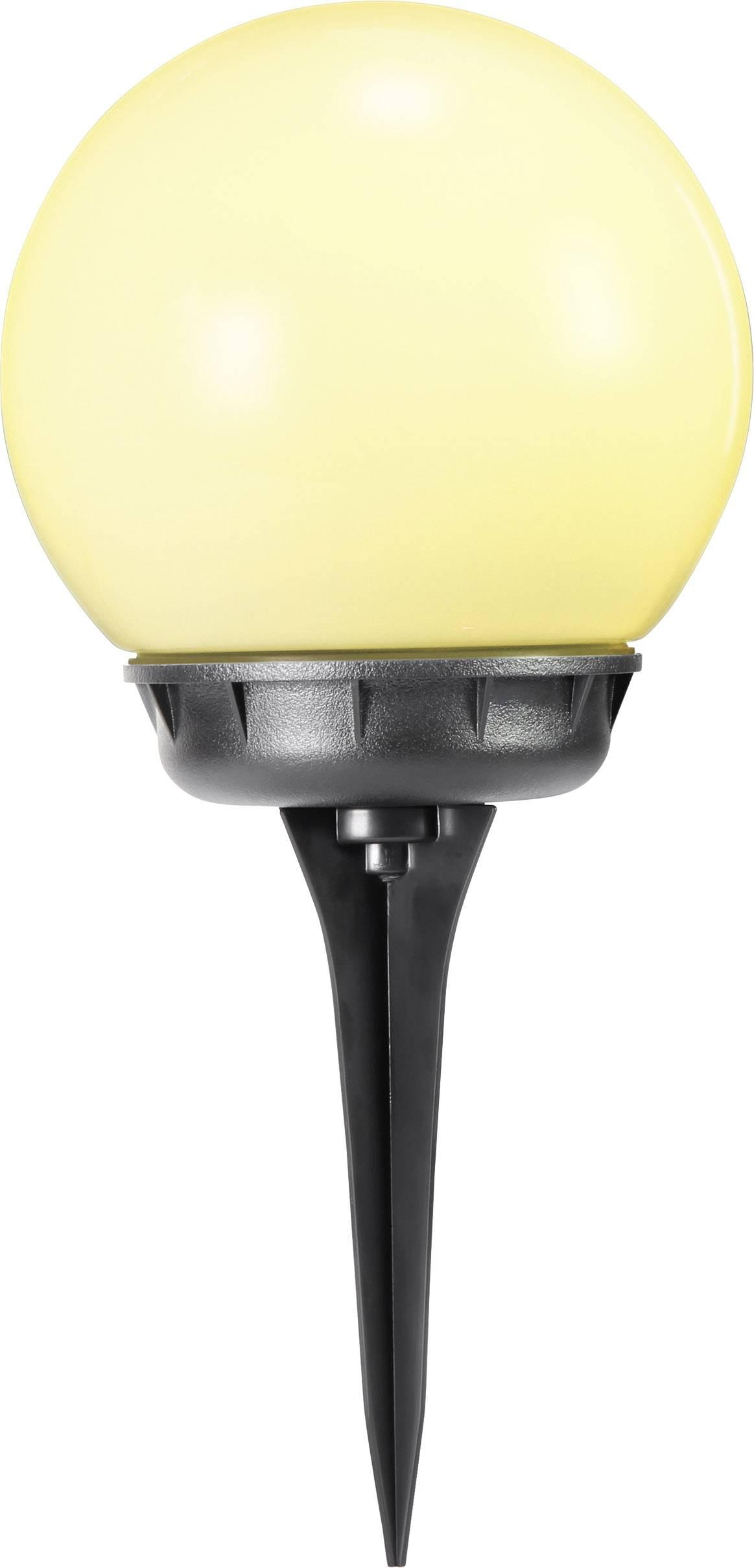 LED solární zahradní svítidlo koule Polarlite S20B PL-8232035, IP44, teplá bílá