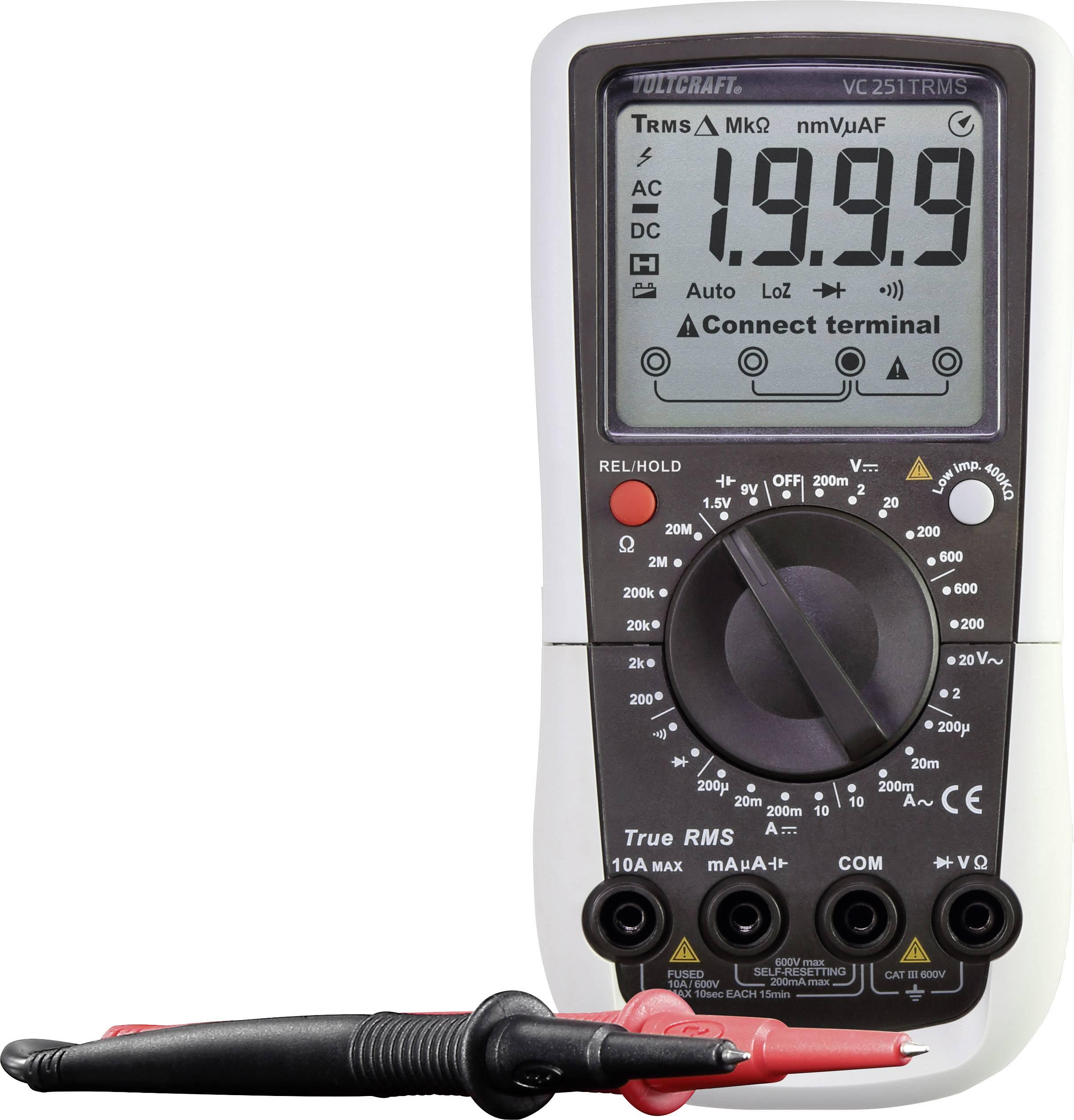 Digitální multimetr VOLTCRAFT VC251 (K), Kalibrováno dle ISO