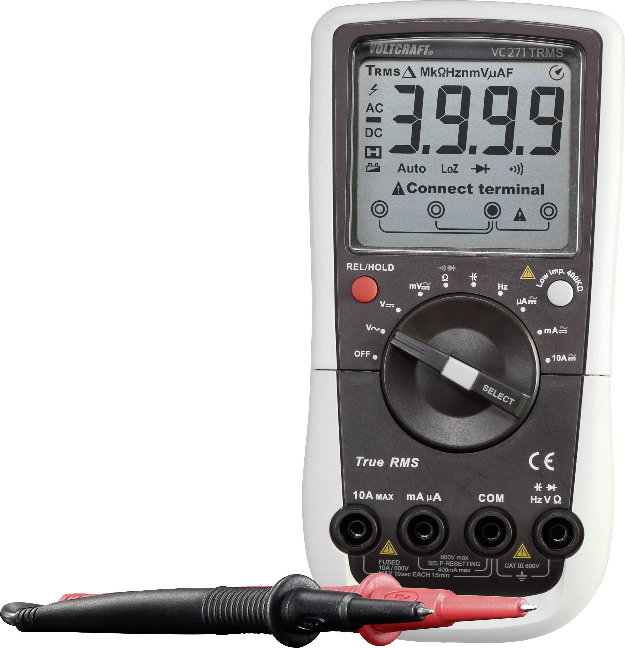 Multimetr VOLTCRAFT VC271 (K), Kalibrováno dle ISO