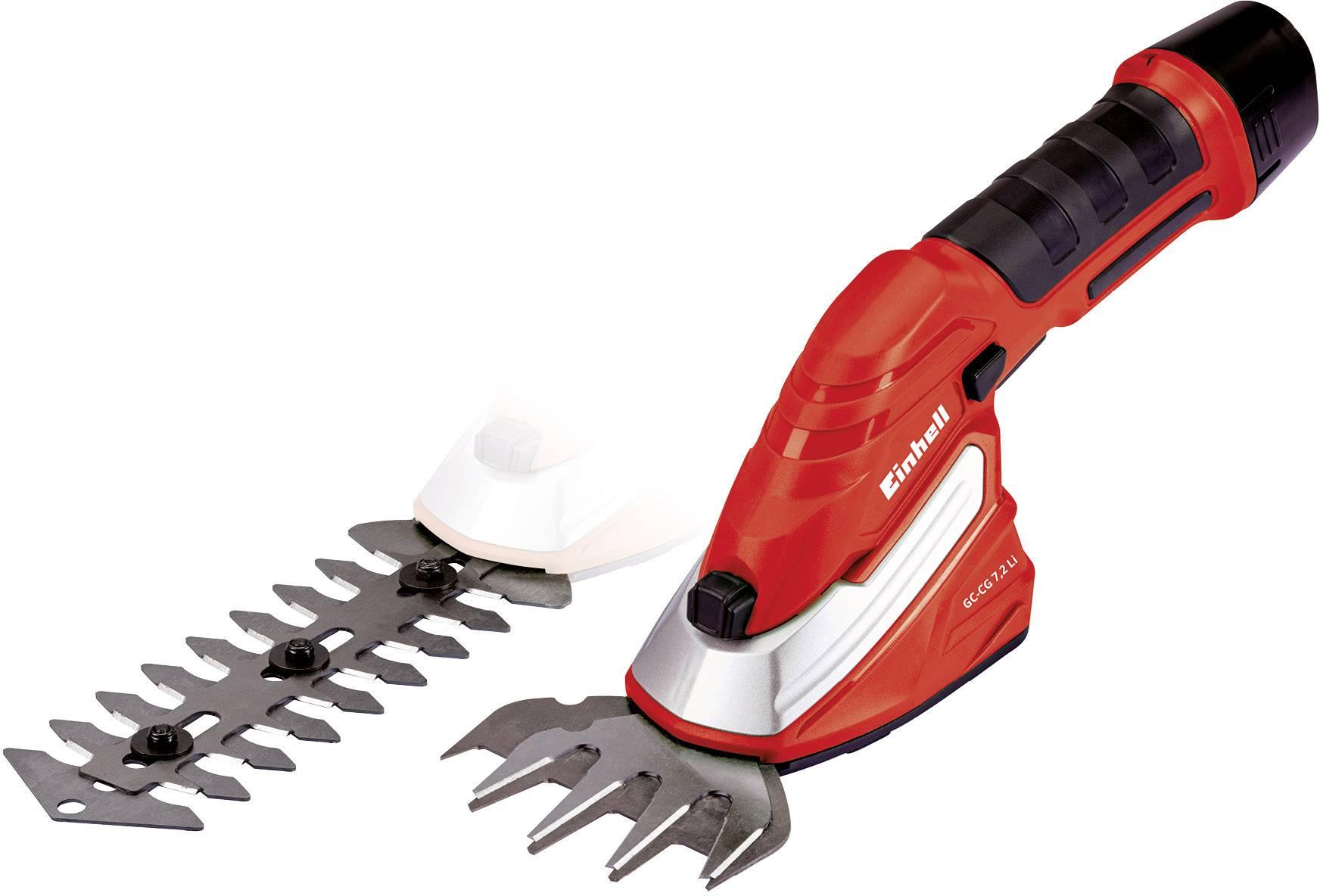Akumulátorová nůžky na keře, nůžky na trávu + akumulátor Li-Ion akumulátor Einhell GC-CG 7,2 Li