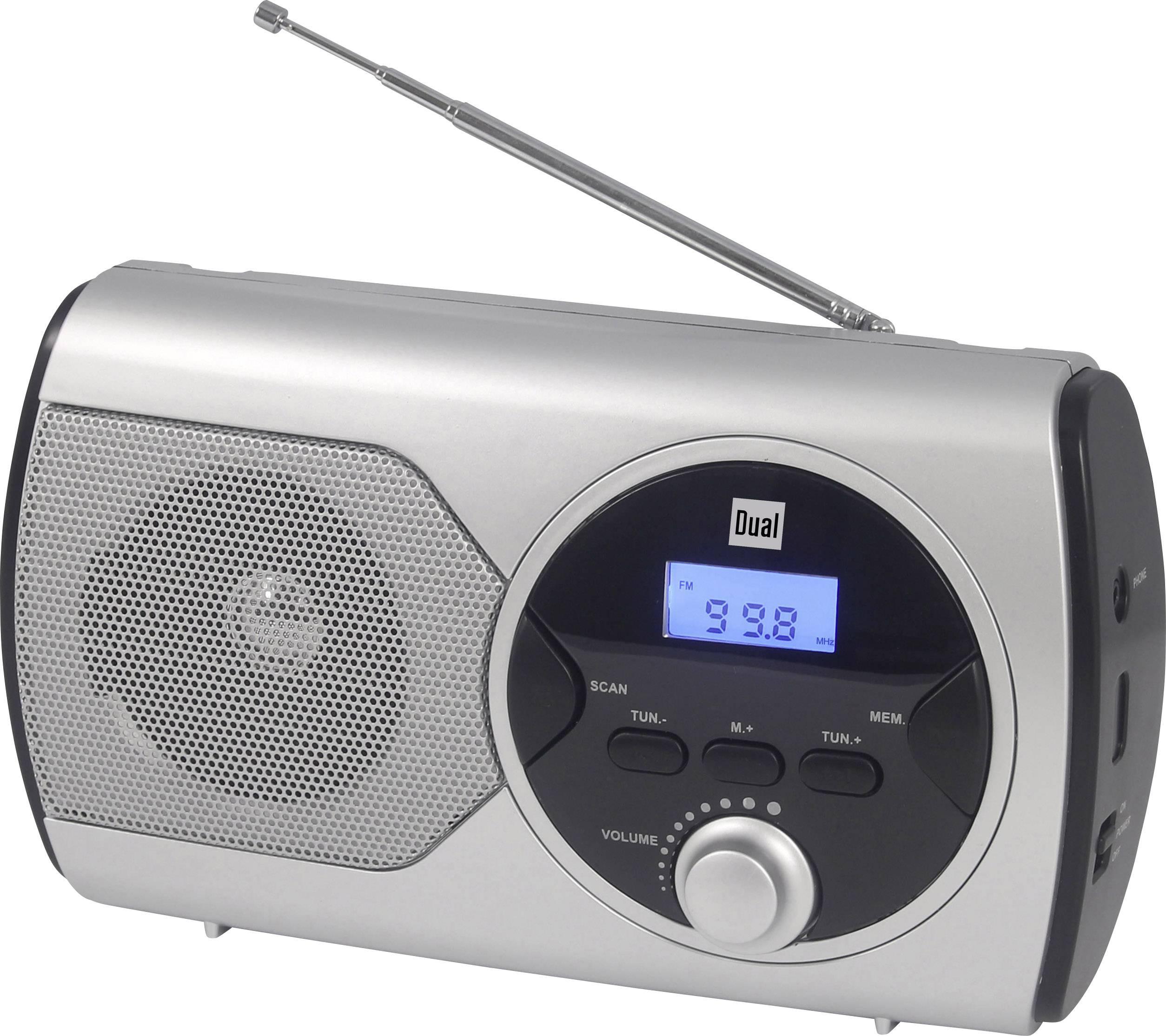 FM kapesní rádio Dual P 10, FM, stříbrná