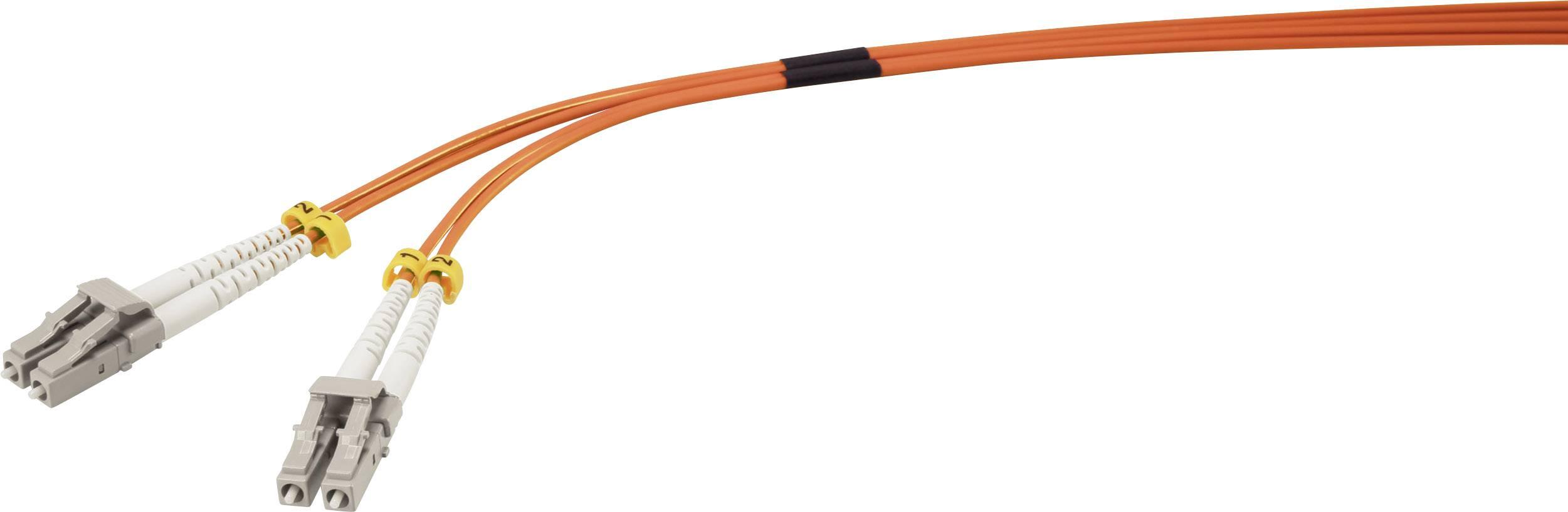 Připojovací optický kabel Renkforce RF-3301834 [1x zástrčka LC - 1x zástrčka LC], 1 m, oranžová