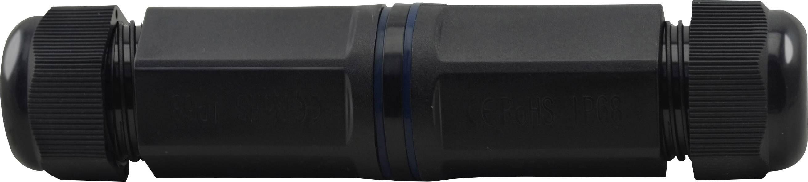 RJ45 síťový adaptér Renkforce RF-3312690 CAT 6, [1x RJ45 zásuvka - 1x RJ45 zásuvka], černá