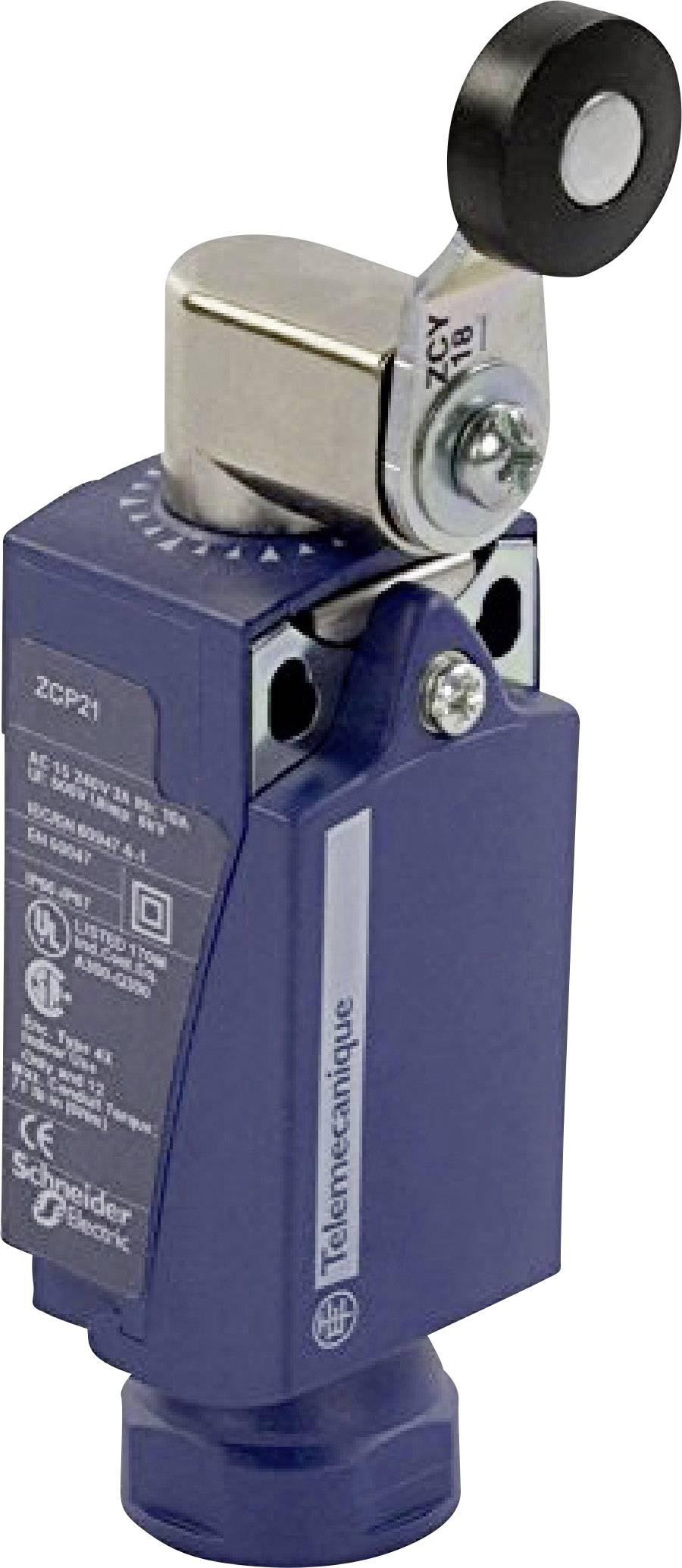 Koncový spínač Schneider Electric XCKP2118M12, páka s rolnou, bez aretace, IP67, 1 ks