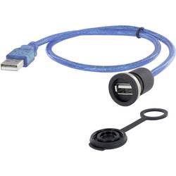 USB 2.0 typ A vestavná zásuvka encitech M16, 1 ks