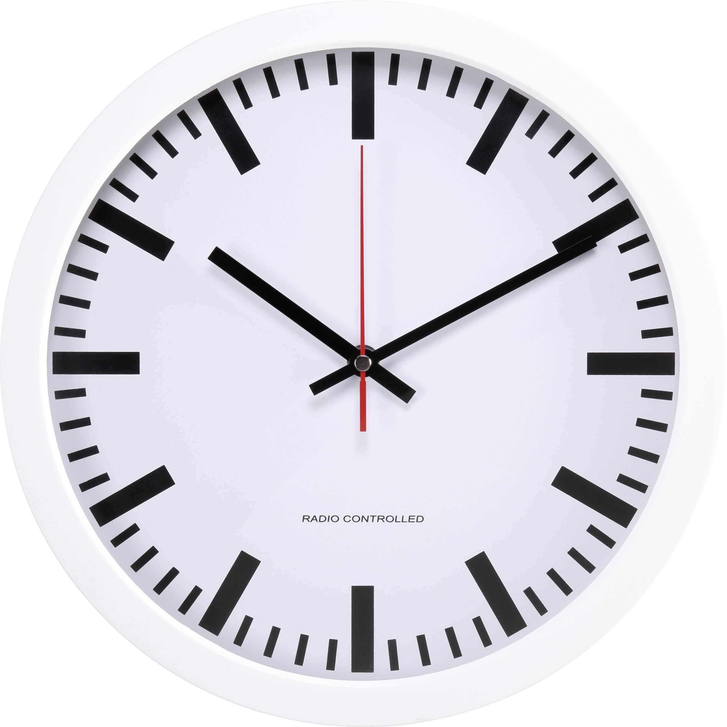 DCF nástěnné hodiny Basetech BT-1661718, vnější Ø 300 mm, bílá