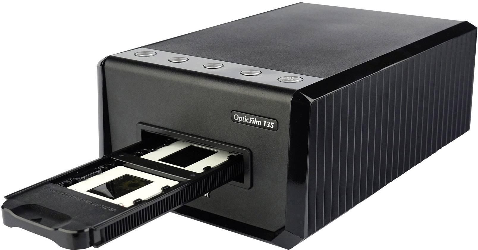 Skener diapozitivů a negativů Plustek OpticFilm 135, automatický provoz