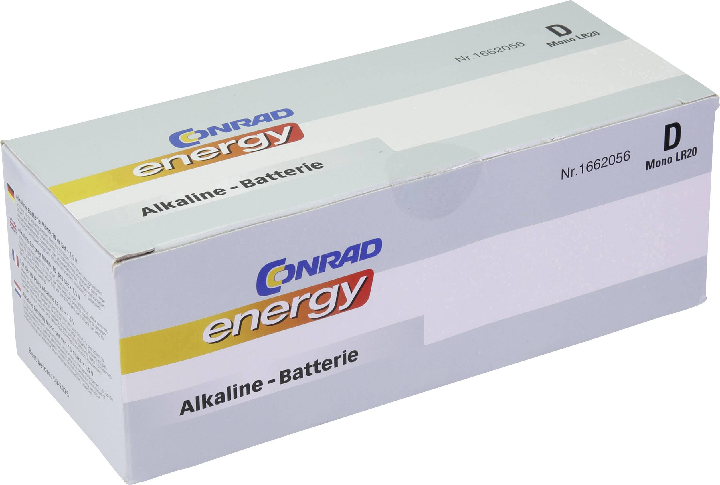 Baterie velké mono D alkalicko-manganová Conrad energy LR20 1.5 V 10 ks