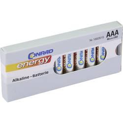 Mikrotužková baterie AAA alkalicko-manganová Conrad energy LR03, 1.5 V, 10 ks