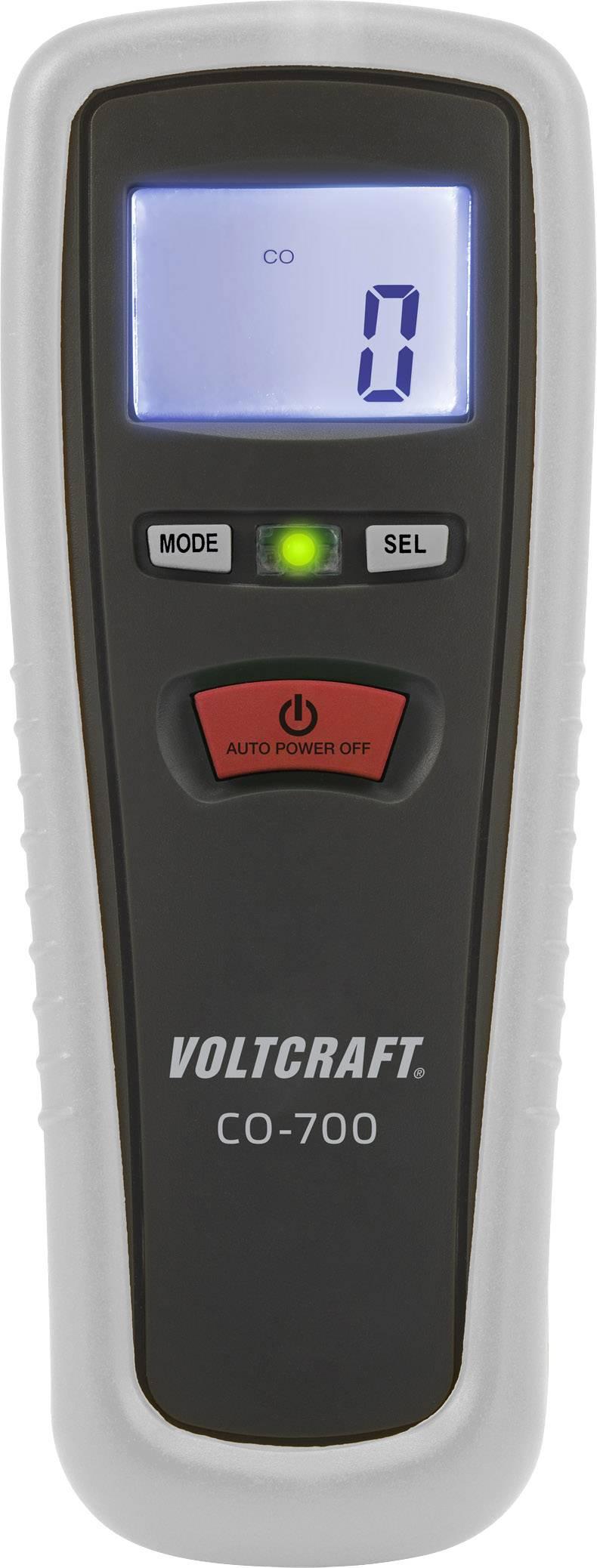 Měřič oxidu uhelnatého (CO) VOLTCRAFT CO-700, 0 - 1000 ppm