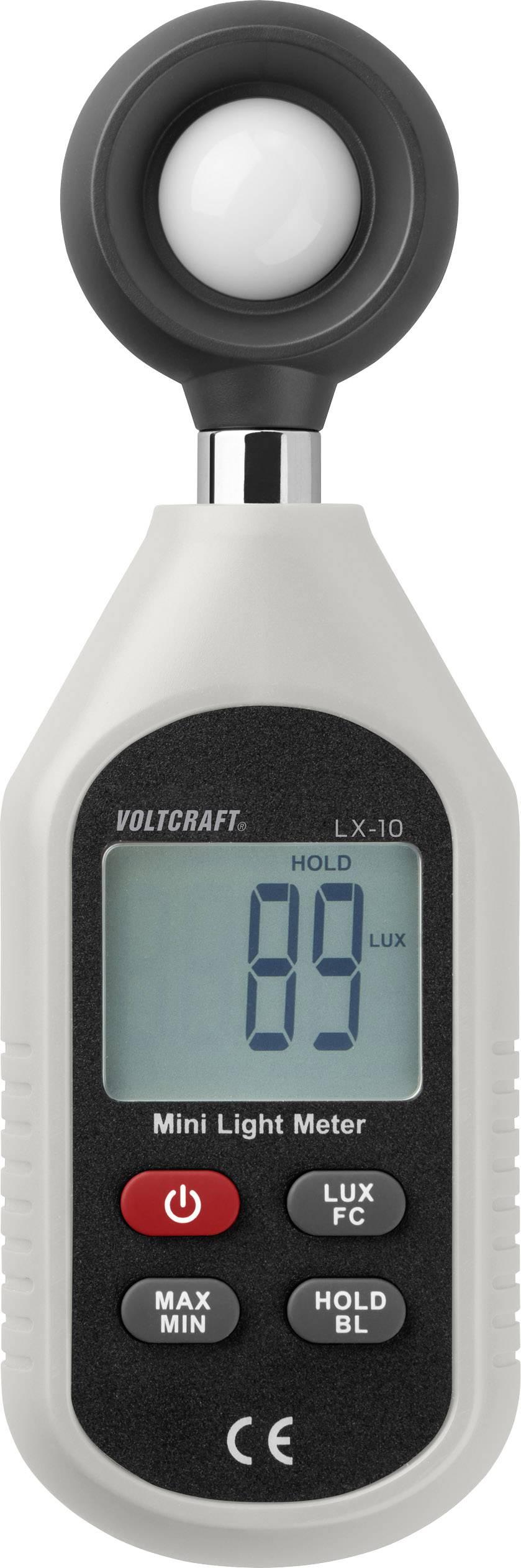 Luxmetr VOLTCRAFT LX-10 VC-8314265, Kalibrováno dle bez certifikátu