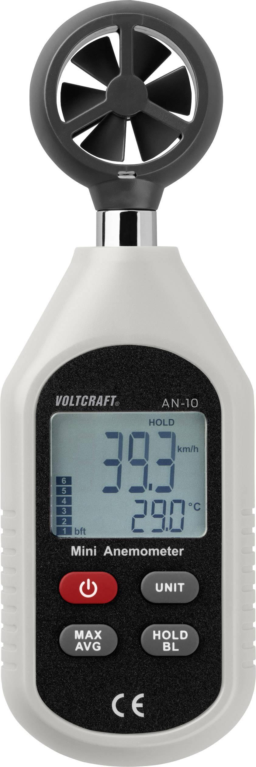 Anemometr VOLTCRAFT AN-10 0.3 až 30 m/s Kalibrováno dle podnikový standard (bez certifikátu) (own)