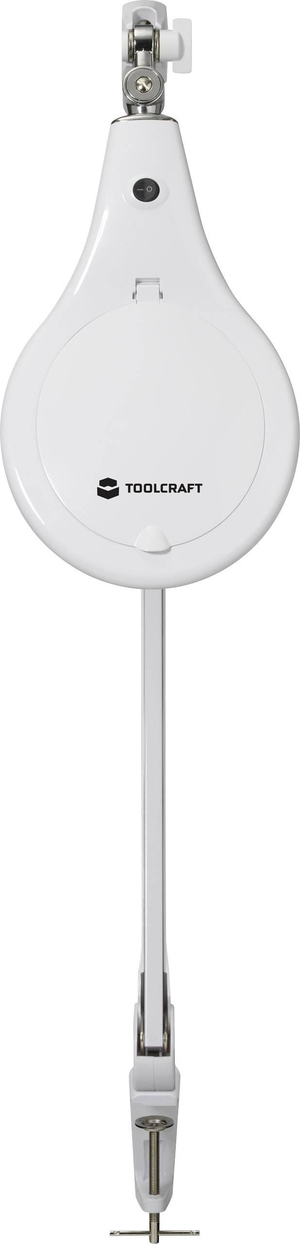 Lupa s LED osvětlením Toolcraft, 127 mm, 8 W