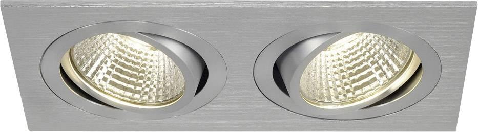 LED vestavné svítidlo SLV New Tria 113926, 12 W, teplá bílá, hliník (kartáčovaný)