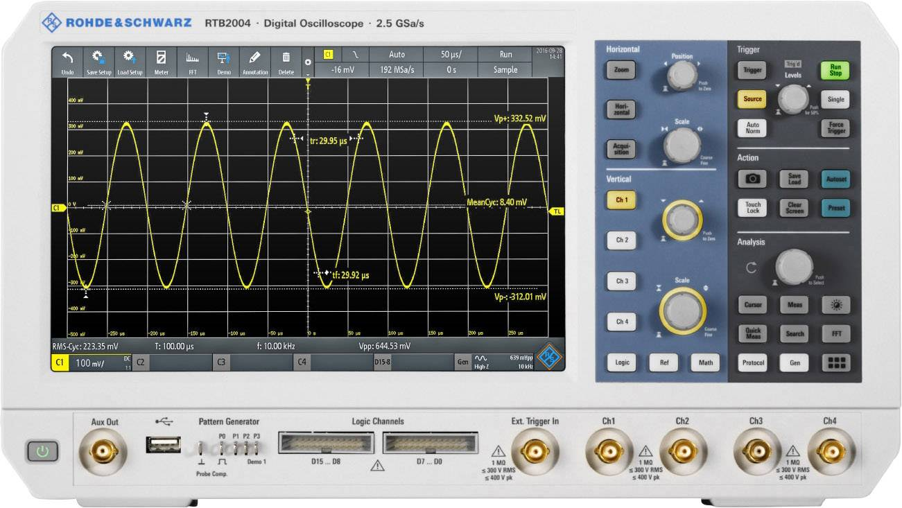 Digitálny osciloskop Rohde & Schwarz RTB2K-74, 70 MHz, 4-kanálová