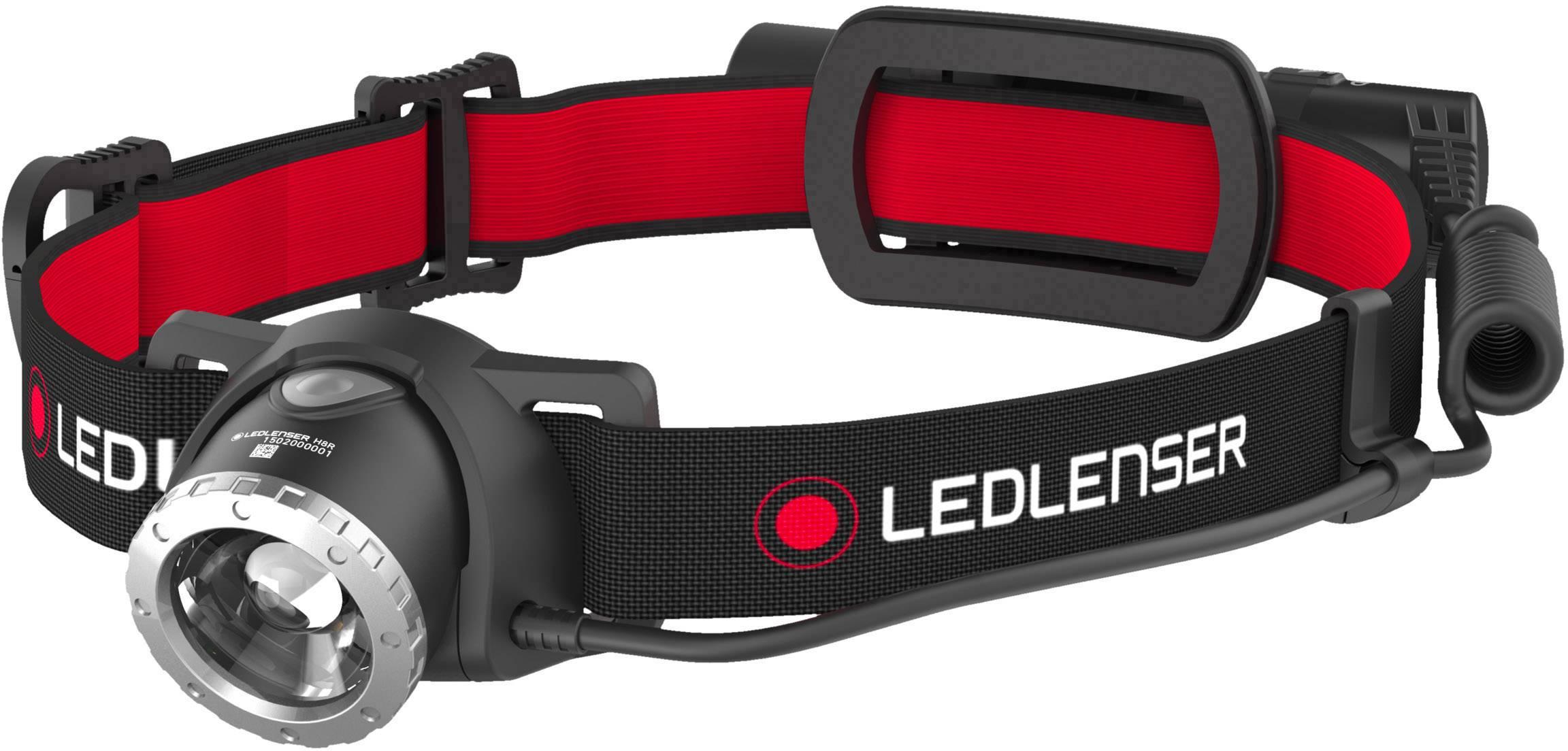 LED čelovka Ledlenser H8R 500852, 600 lm, napájeno akumulátorem, 158 g, černá, červená