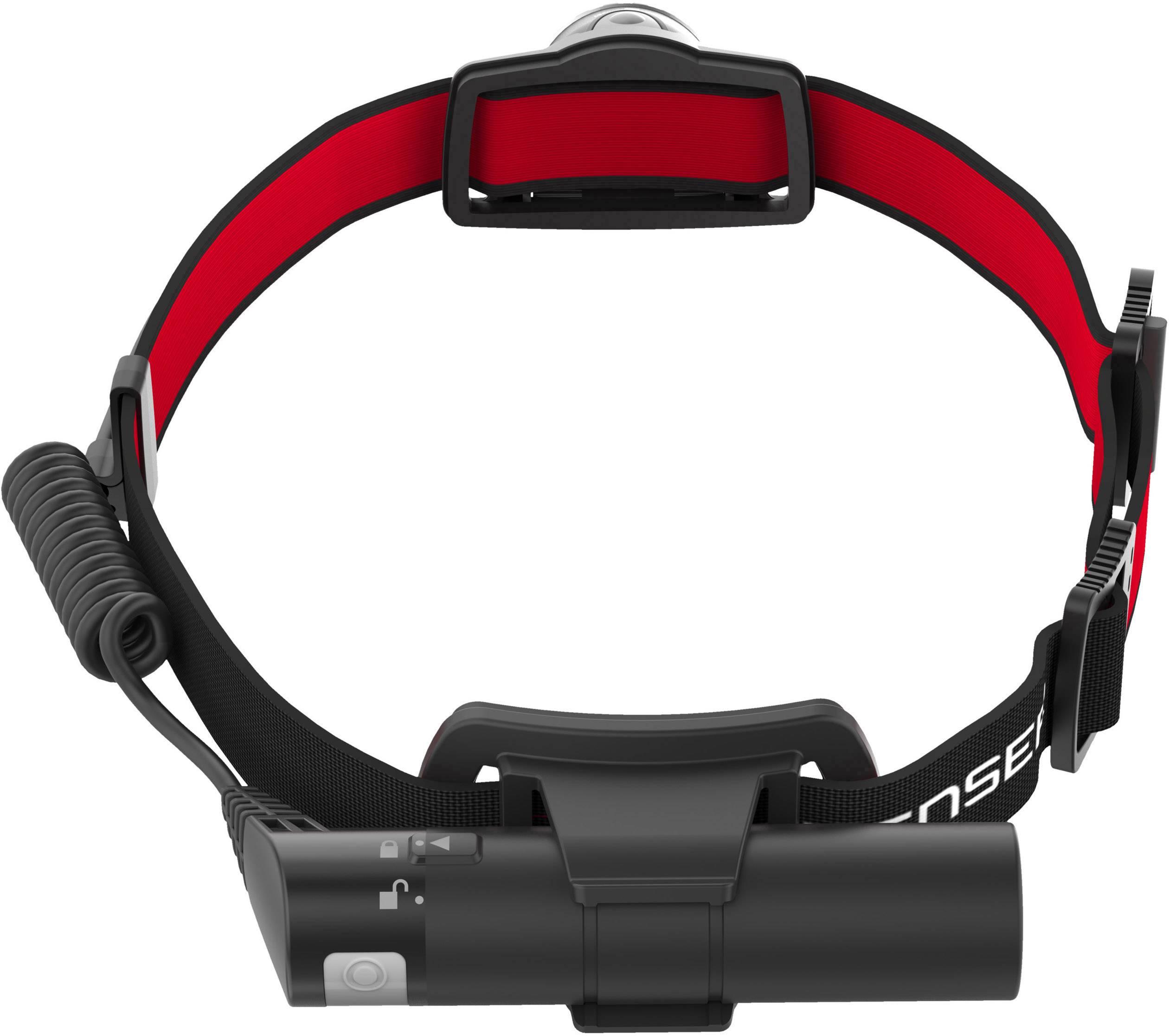 LED čelovka Ledlenser H8R 500852, napájeno akumulátorem, 158 g, černá, červená