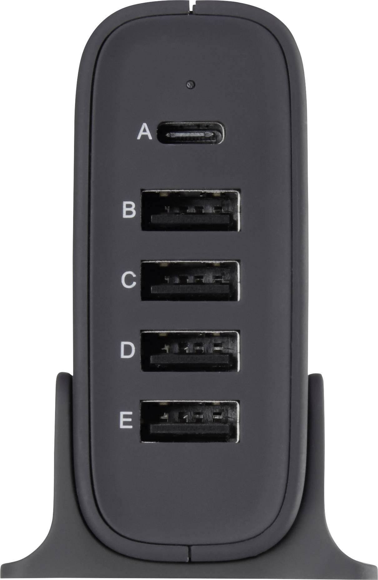 USB nabíječka VOLTCRAFT VC-8331410, nabíjecí proud 8 A, černá