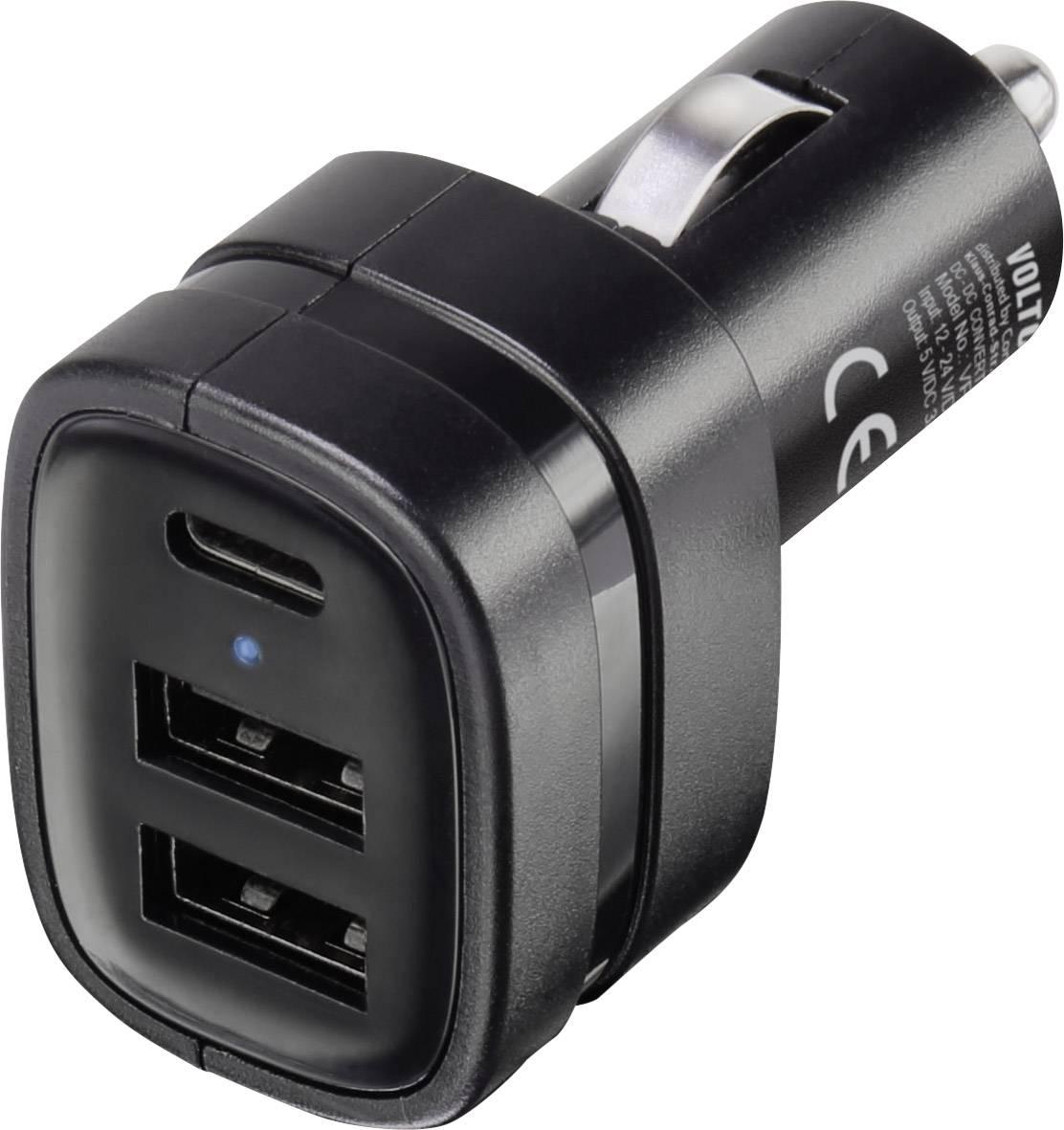 USB nabíječka VOLTCRAFT VC-8332435, nabíjecí proud 3 A, černá