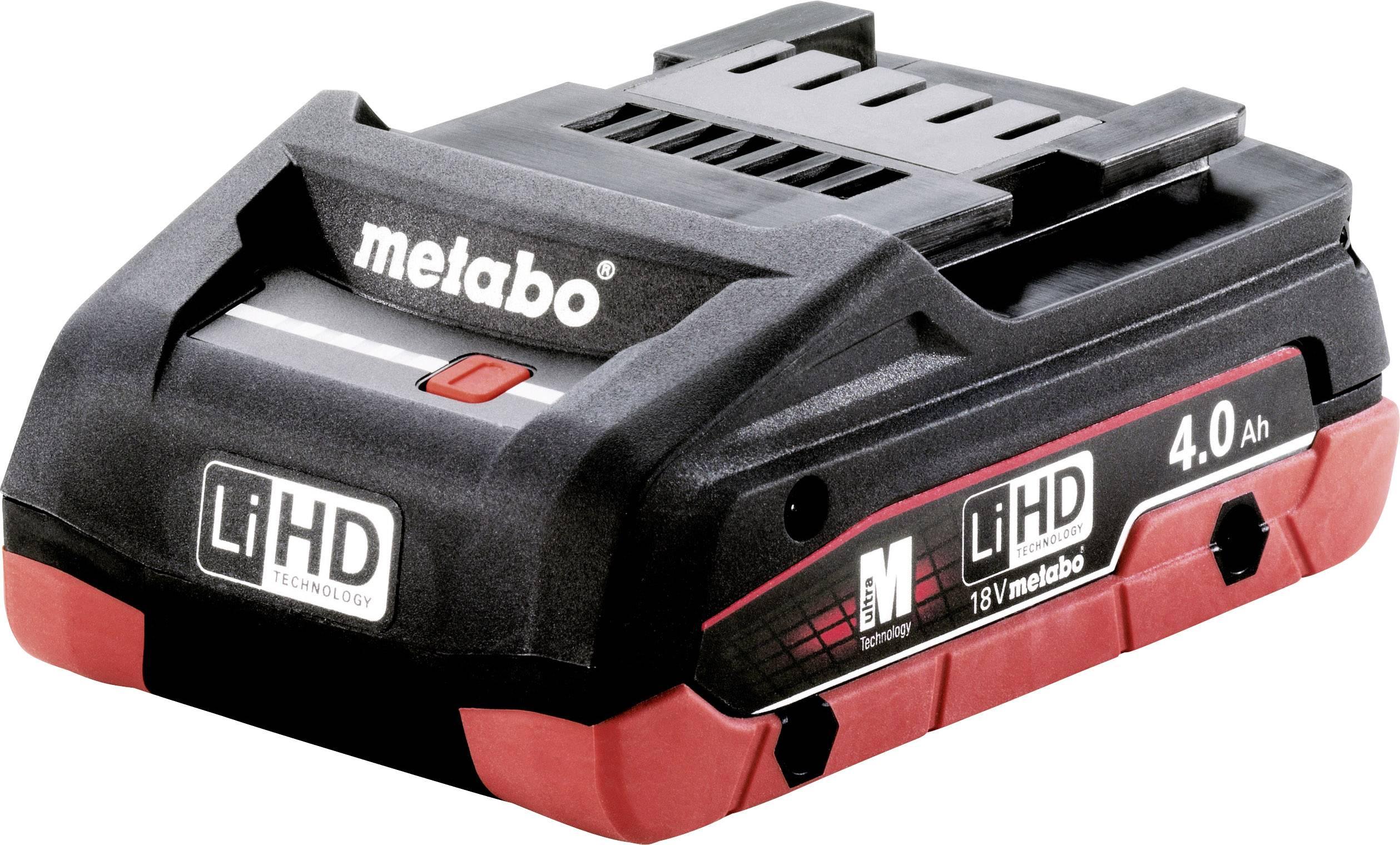 Náhradní akumulátor pro elektrické nářadí, Metabo 625367000, 18 V, 4 Ah, LiHD