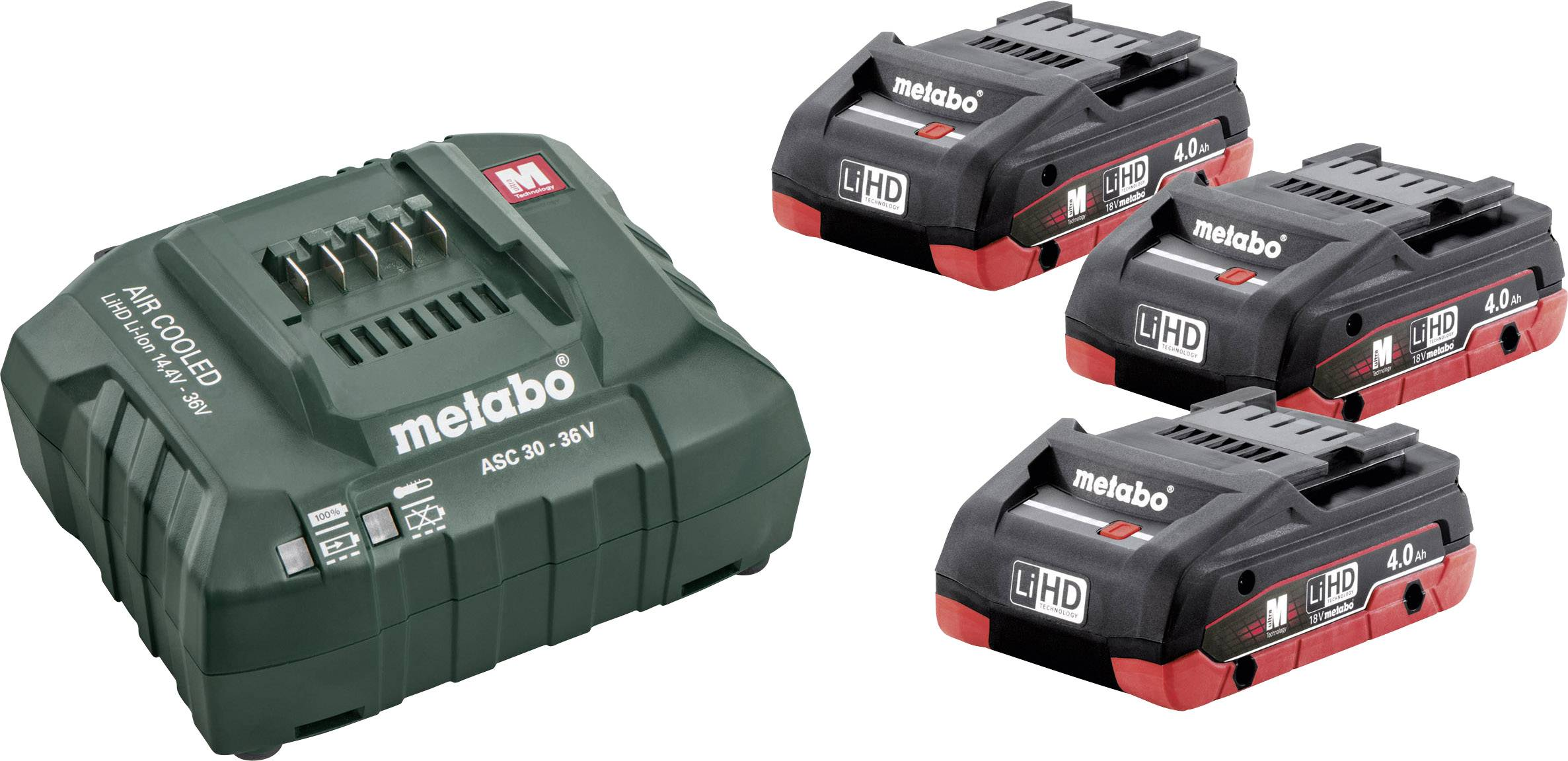 Náhradní akumulátor pro elektrické nářadí, Metabo 685132000, 18 V, 4.0 Ah, LiHD