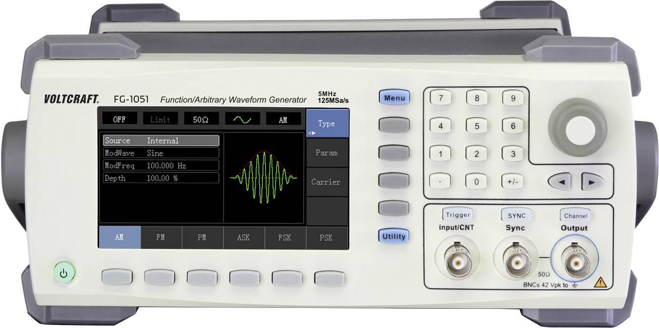 Arbitrátní generátor funkcí VOLTCRAFT FG-1051 1kanálový DAkkS