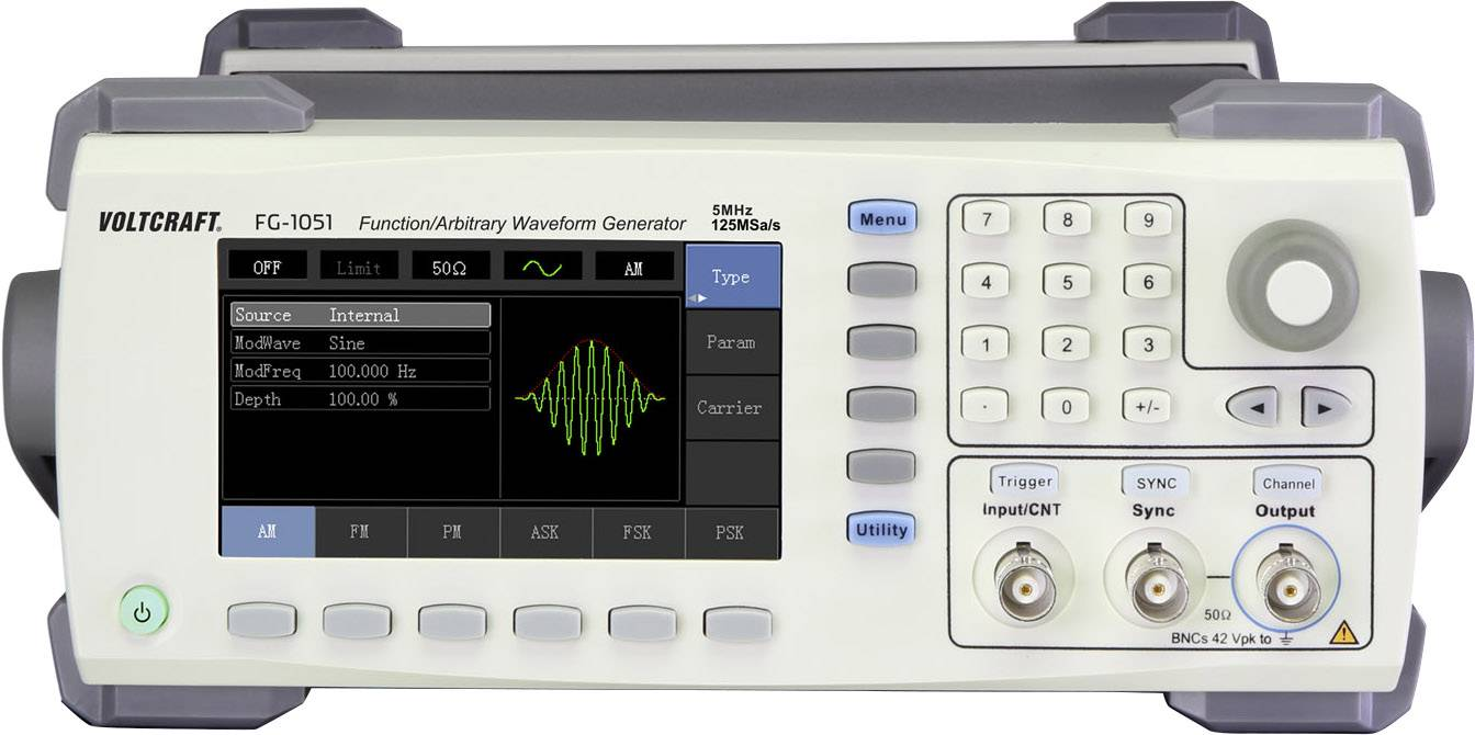 Arbitrátní generátor funkcí VOLTCRAFT FG-1051 1kanálový bez certifikátu