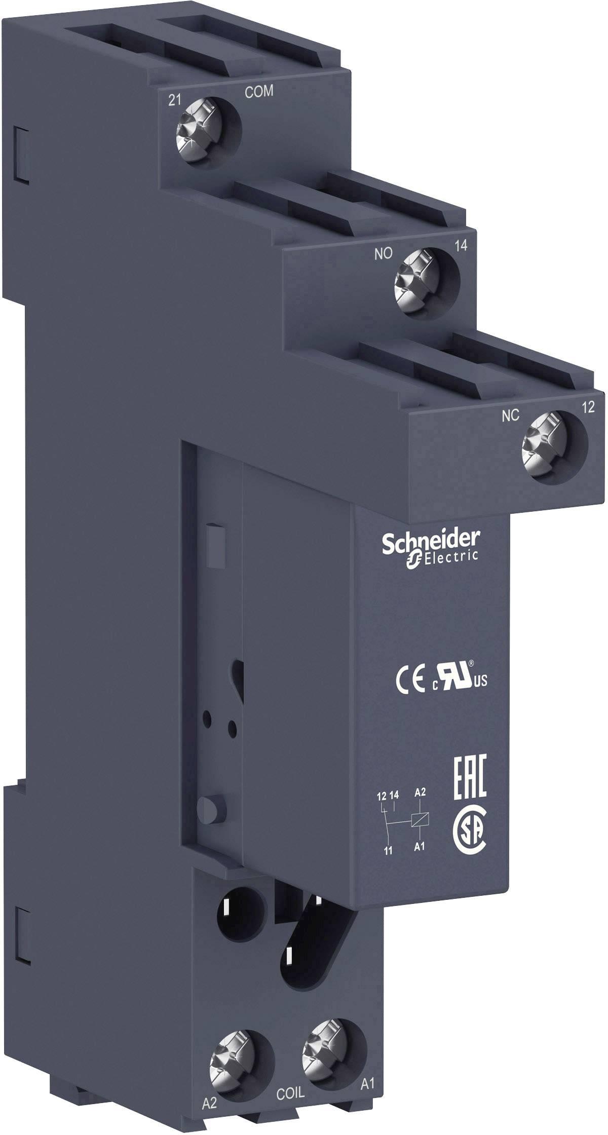 Zátěžové relé Schneider Electric RSB1A1 60 BDS, 24 V/DC, 16 A, 1 přepínací kontakt, 1 ks