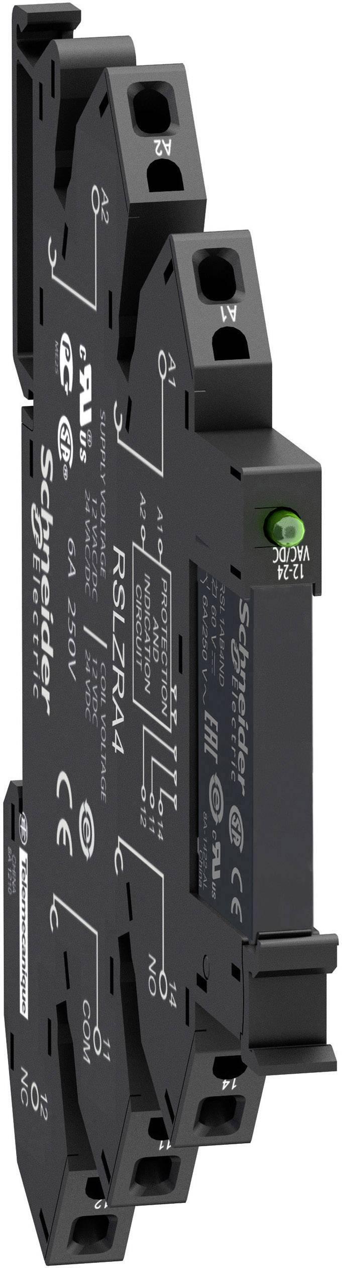 Zátěžové relé Schneider Electric RSL1PRPU, 230 V/DC, 230 V/AC, 6 A, 1 přepínací kontakt, 1 ks