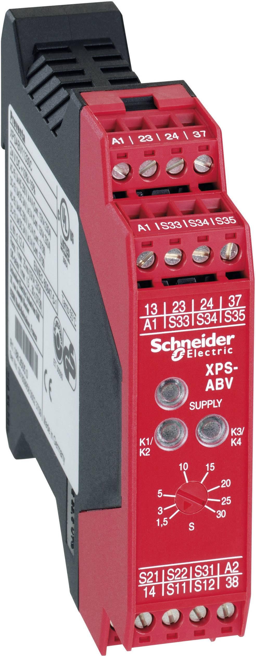 Ochranné relé Schneider Electric XPSABV 3P113, XPSABV1133P, 24 V/DC, 3 přepínací kontakty