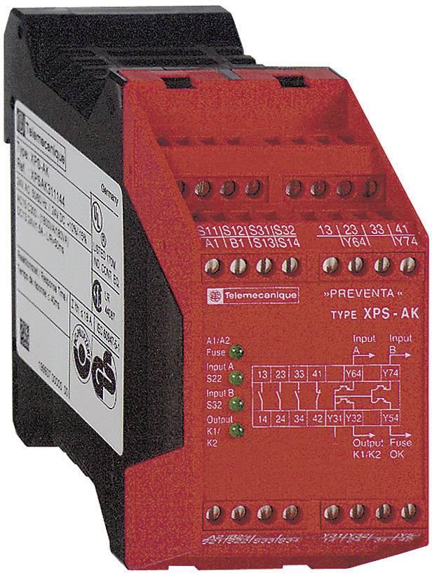 Ochranné relé Schneider Electric XPSAK311144, XPSAK311144, 24 V/DC, 24 V/AC, 3 přepínací kontakty