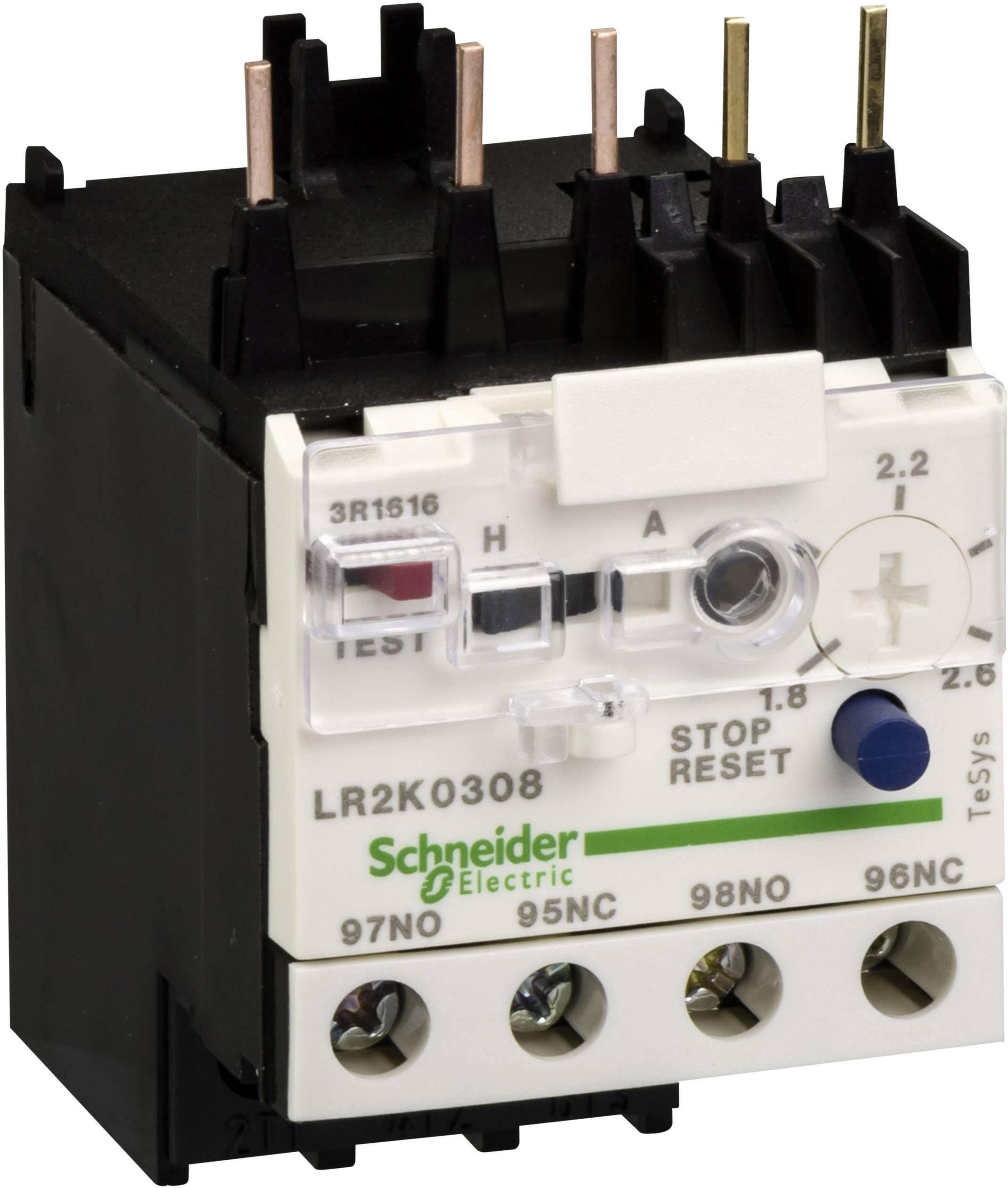 Ochranné relé motoru Schneider Electric LR2K0312 LR2K0312, 1 ks