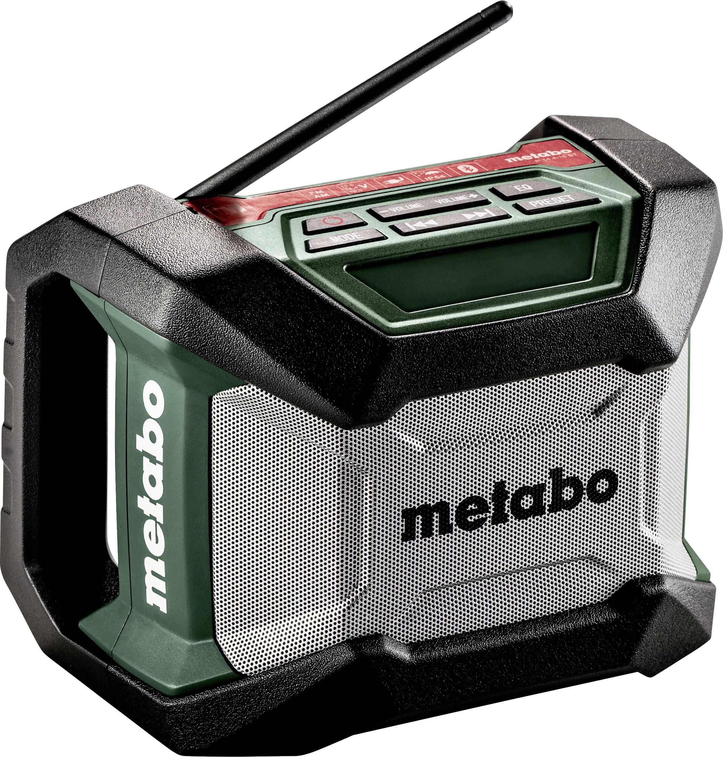 FM outdoorové rádio Metabo R 12-18, černá, zelená, šedá