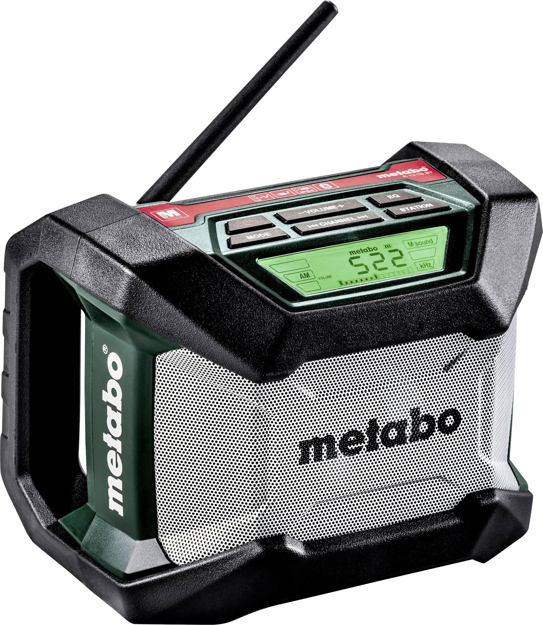 FM outdoorové rádio Metabo R 12-18 BT, Bluetooth, černá, zelená, šedá