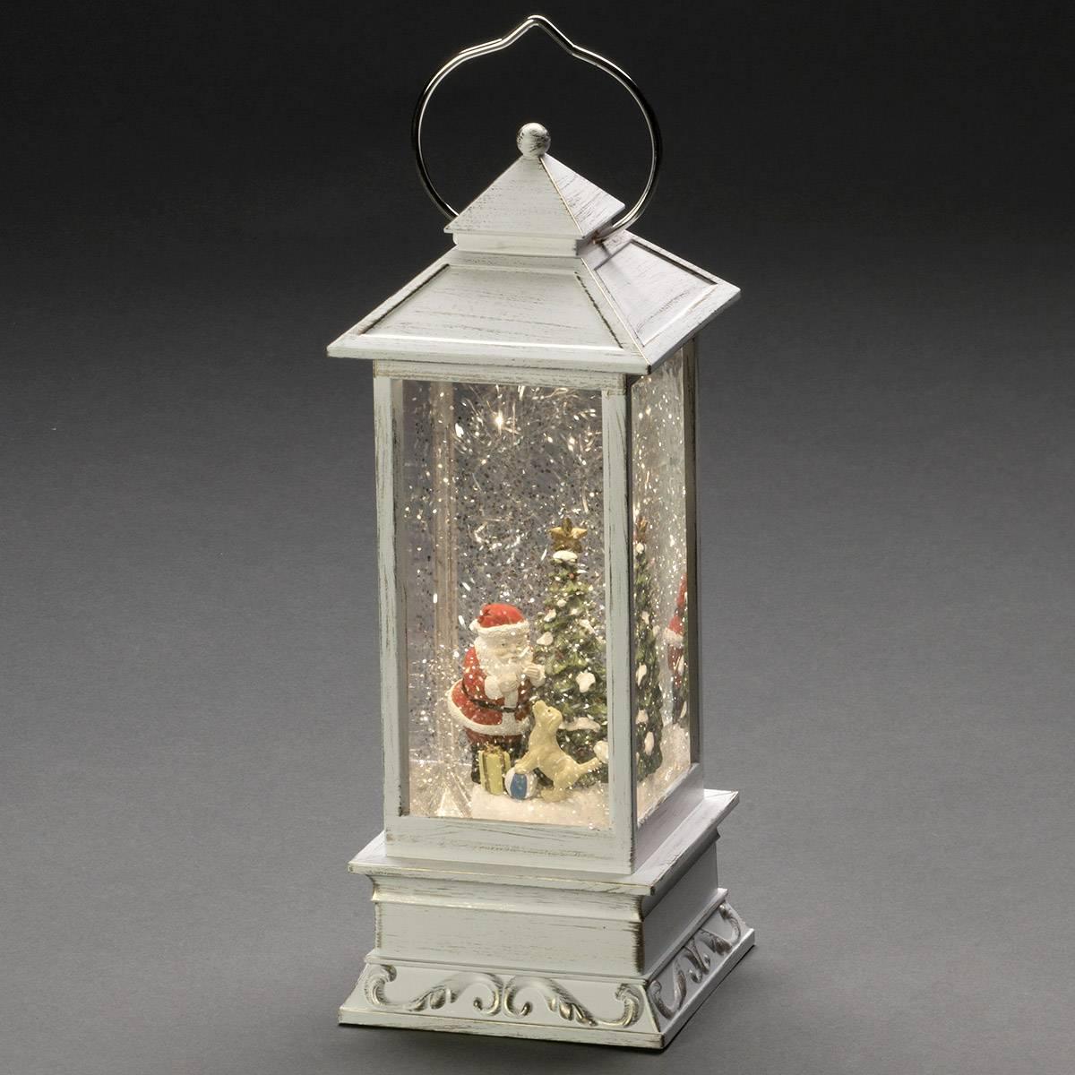LED lucerna Santa Claus Konstsmide 4364-200, bílá