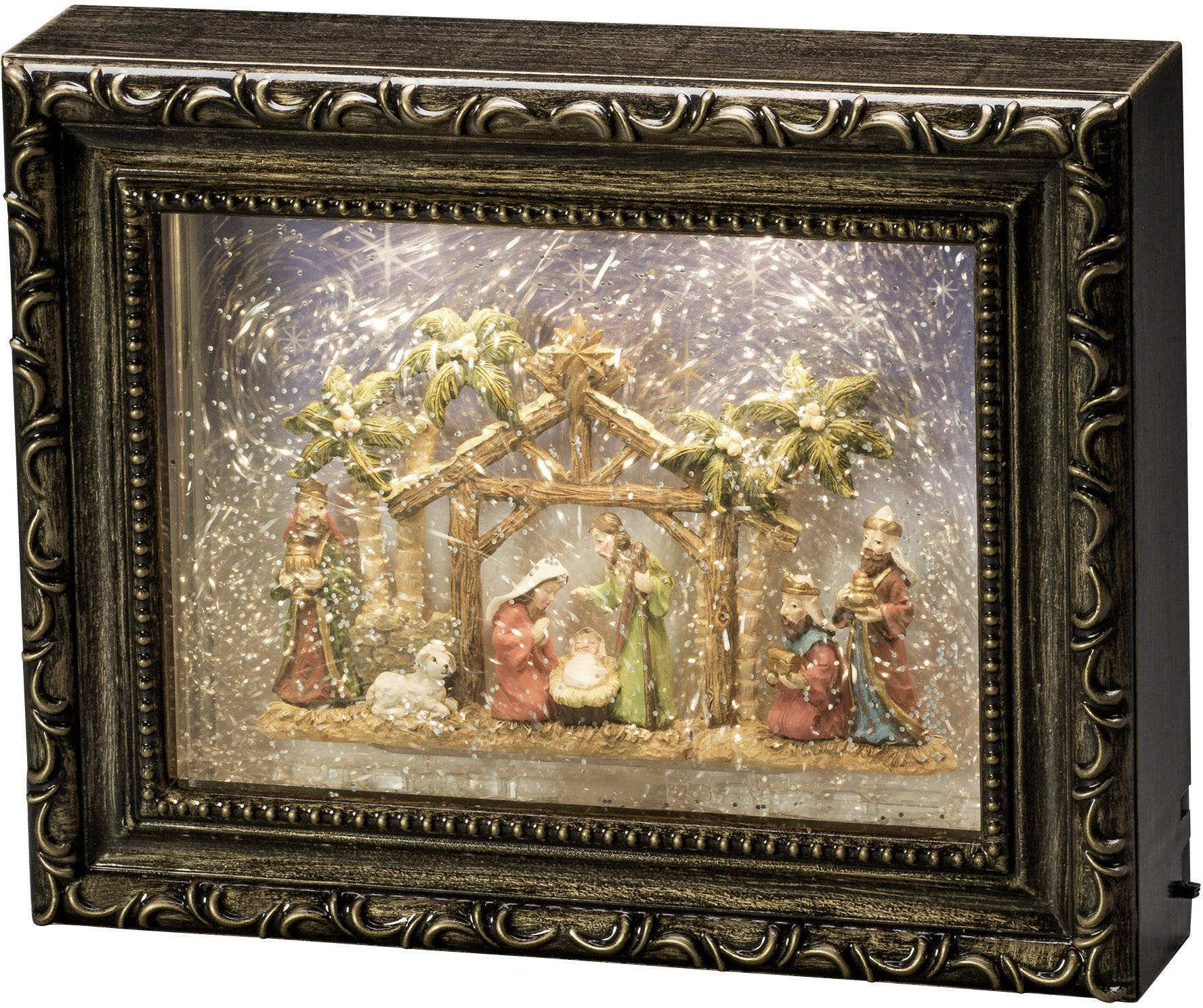 """LED vánoční dekorace jesle Konstsmide LED """"Bilderrahmen mit Krippe"""" 4358-000"""