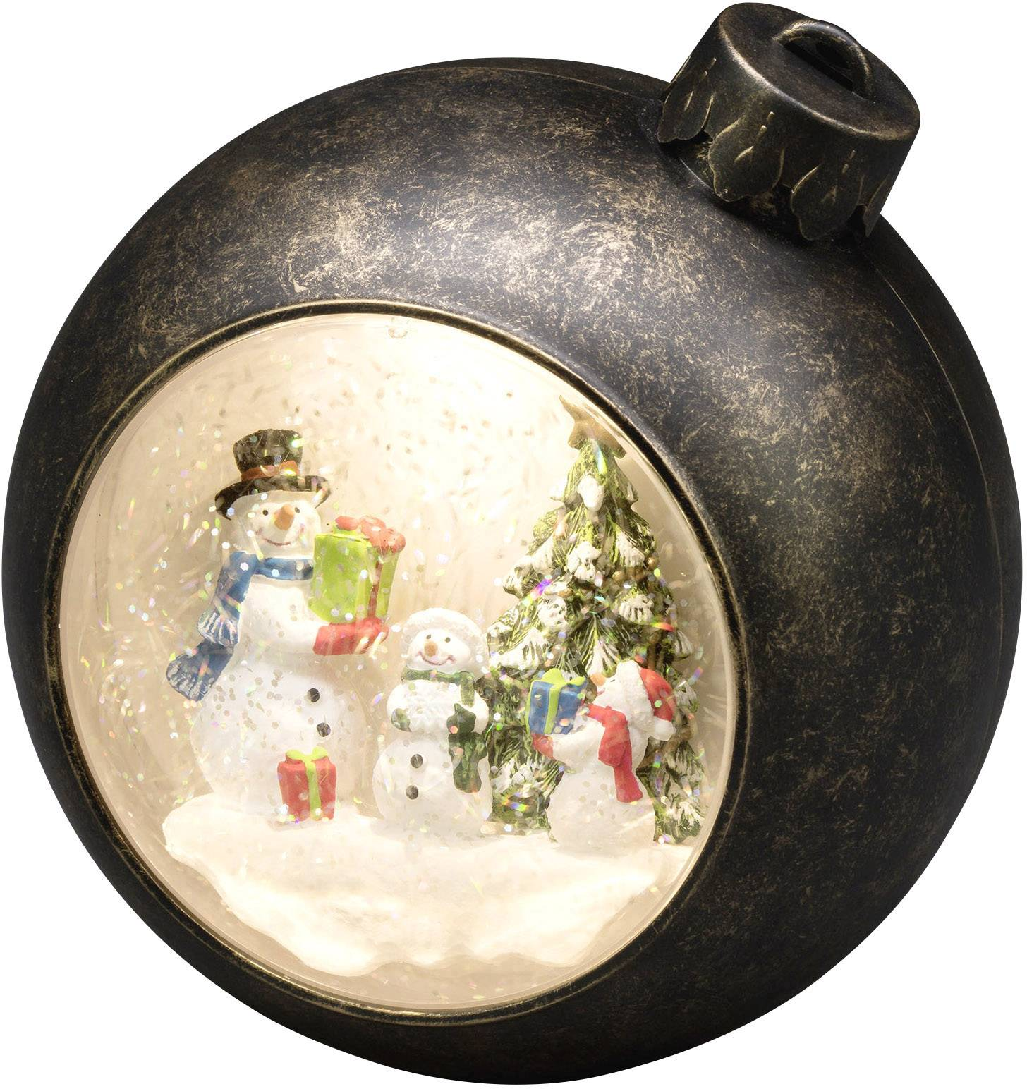 """Dekorativní LED osvětlení vánoční koule, sněhulák Konstsmide LED Weihnachtskugel """"Schneemänner"""" 4361-000"""