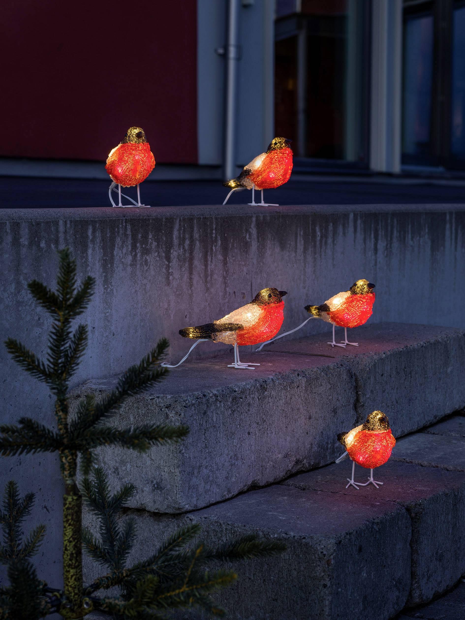 Akrylová LED postavička ptáci Konstsmide 6269-203
