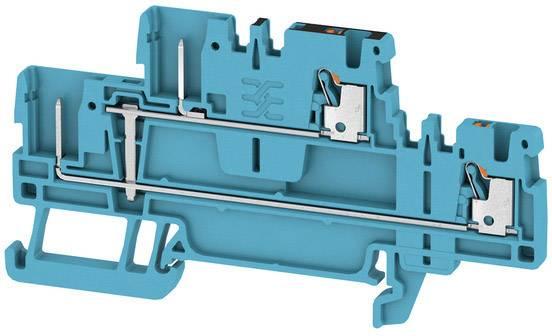 Dvojitá průchodková svorka Weidmüller APGTB 1.5 2T VL 4C/2 BL, 2485930000, modrá, 50 ks