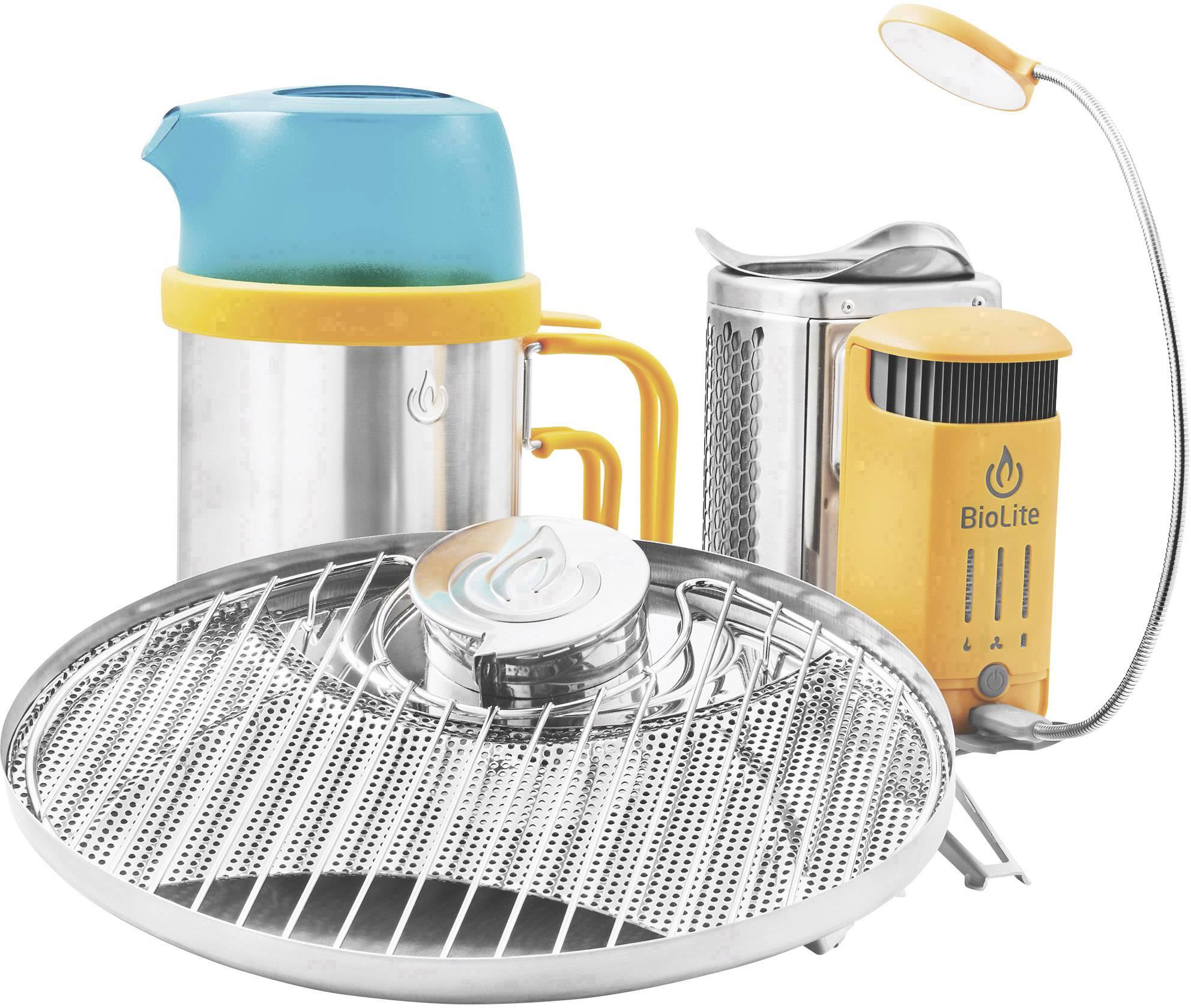 Kempingový vařič BioLite CampStove 2 Bundle 006-6001122, nerezová ocel, plast