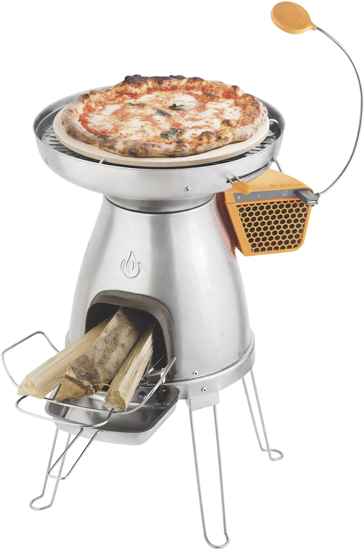 Kempingový vařič BioLite PizzaDome 006-6001123, nerezová ocel, keramika, silikon